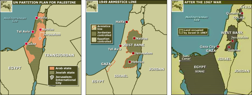 Borders of Israel, 1947 - 1967